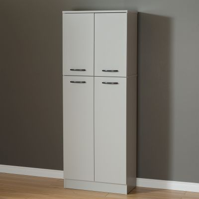 Axess 4-Door Storage Pantry Soft Gray - 10104