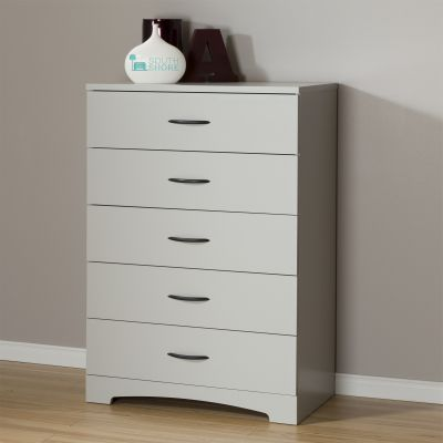 Step One 5-Drawer Chest Soft Gray - 10106