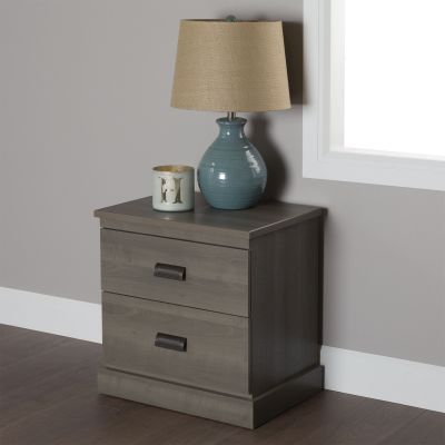 Gloria 2-Drawer Nightstand Gray Maple - 10119