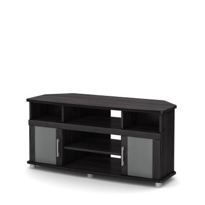 City Life Corner TV Stand for TVs up to 50 inches Gray Oak - 10127