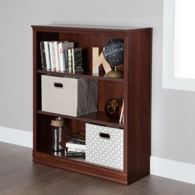 Morgan 3-Shelf Bookcase Royal Cherry - 10148