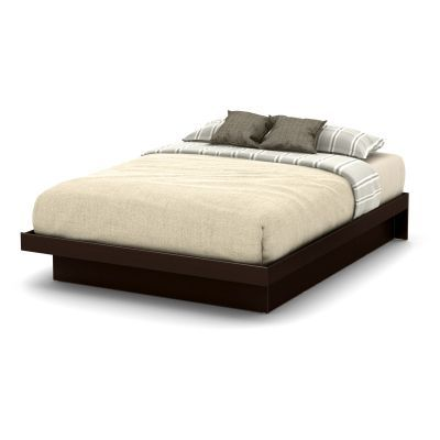 Basic Queen Platform Bed 60'') with Moldings Chocolate - 10163