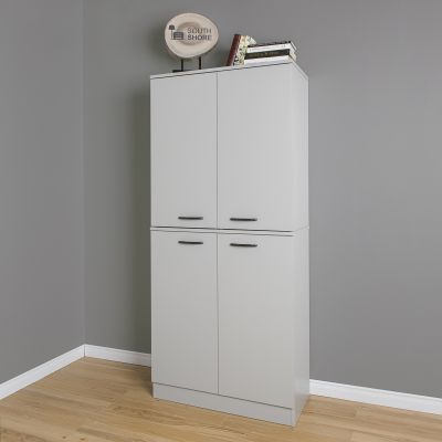 Axess 4-Door Armoire Soft Gray - 10193