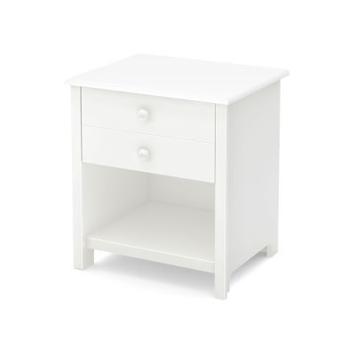 Little Smileys 1-Drawer Nightstand Pure White - 10201