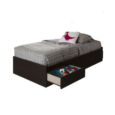 Vito Twin Mates Bed with 3 Drawers Chocolate - 10204
