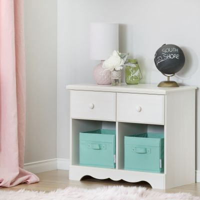 Summer Breeze 2-Drawer Double Nightstand White Wash - 10205