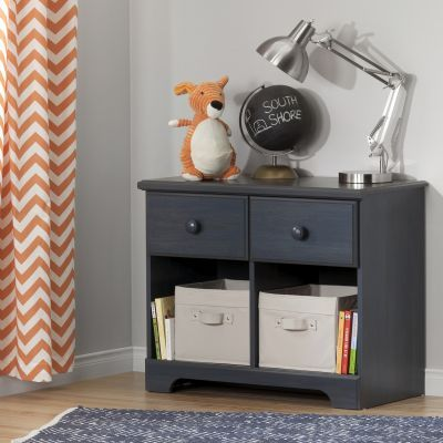 Summer Breeze 2-Drawer Double Nightstand Blueberry - 10206