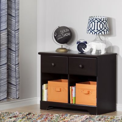 Summer Breeze 2-Drawer Double Nightstand Chocolate - 10207