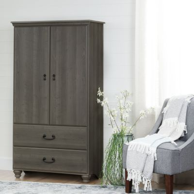 Noble Armoire with Drawers Gray Maple - 10243