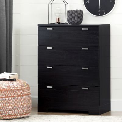 Reevo 4-Drawer Chest Black Onyx - 10259