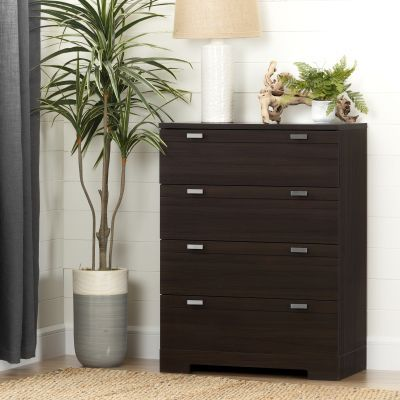 Reevo 4-Drawer Chest Matte Brown - 10265