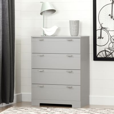Reevo 4-Drawer Chest Soft Gray - 10270