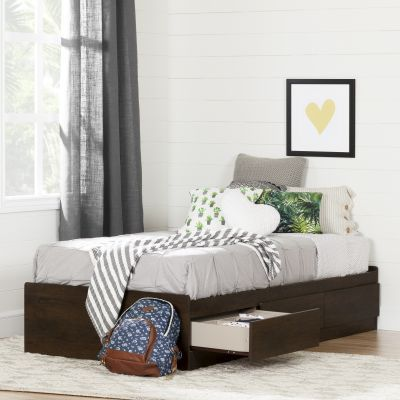 Fynn Twin Mates Bed with 3 Drawers Brown Oak - 10282