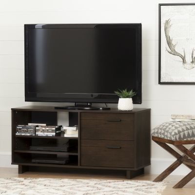 Fynn TV Stand with Drawers for TVs up to 55'' Brown Oak - 10286