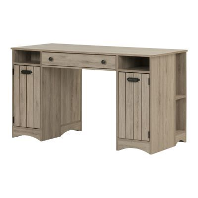 Artwork Craft Table with Storage Rustic Oak - 10287