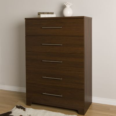 Primo 5-Drawer Chest Brown Walnut - 10334