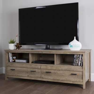 Exhibit TV Stand for TVs up to 60'' Weathered Oak - 10394