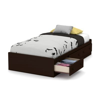 Little Smileys Twin Mates Bed with 3 Drawers in Espresso - 10406