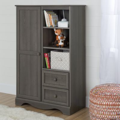 Savannah Armoire with Drawers Gray Maple - 10428
