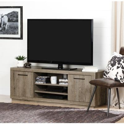 Kanji TV Stand for TVs up to 60'' Weathered Oak - 10480
