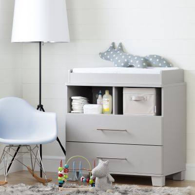 Cuddly Changing Table/Dresser Soft Gray - 10514