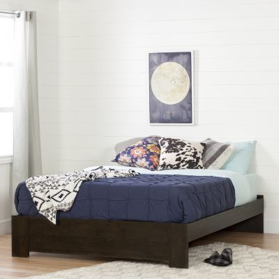 Flexible Queen Platform Bed (60'') Brown Oak - 10520