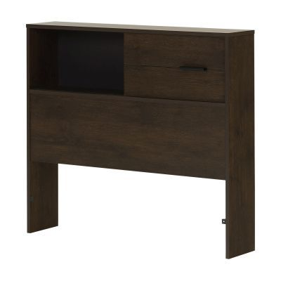 Fynn Twin Bookcase Headboard (39'') Brown Oak - 10534