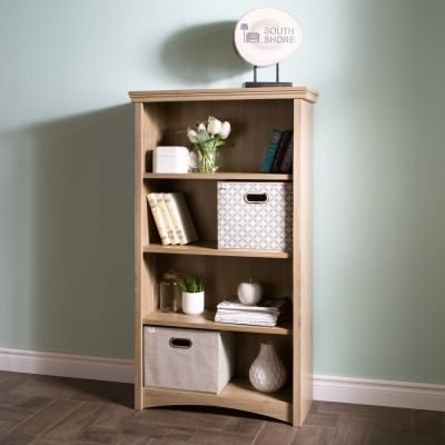 Artwork 4-Shelf Bookcase Rustic Oak - 10622