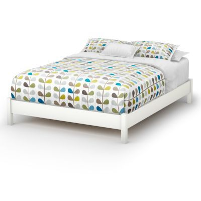 Step One Queen Platform Bed (60'') Pure White - 3050203