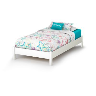 Step One Twin Platform Bed (39'') Pure White - 3050205