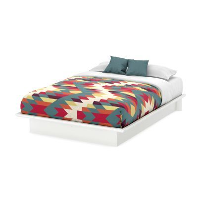 Step One Queen Platform Bed (60'') Pure White - 3050233