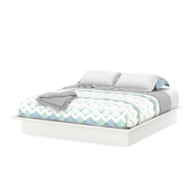 Step One King Platform Bed (78'') with Mouldings Pure White - 3050248