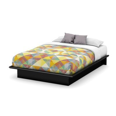 Step One Queen Platform Bed (60'') Pure Black - 3070233