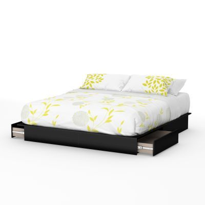 Step One King Platform Bed (78'') with Drawers Pure Black - 3107237