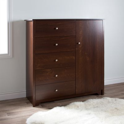 Vito Door Chest with 5 Drawers Sumptuous Cherry - 3156045