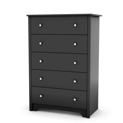 Vito 5-Drawer Chest Pure Black - 3170035