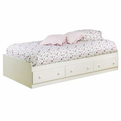 Summer Breeze Twin Mates Bed with 3 Drawers in White Wash - 3210080