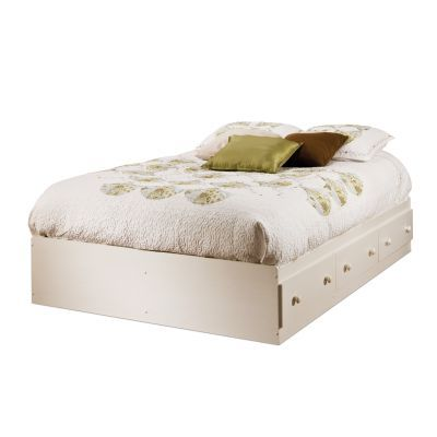 Summer Breeze Full Mates Bed with 3 Drawers in White Wash - 3210211