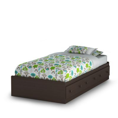 Summer Breeze Twin Mates Bed with 3 Drawers in Chocolate - 3219080