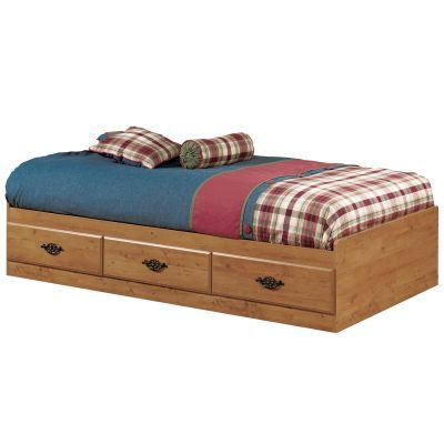 Prairie Twin Mates Bed with 3 Drawers Country Pine - 3232080