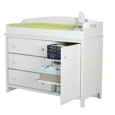 Cotton Candy Changing Table with Removable in Pure White - 3250333