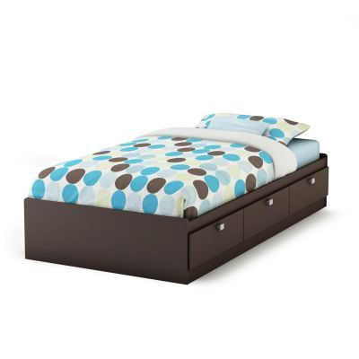 Spark Twin Mates Bed with 3 Drawers Chocolate - 3259080