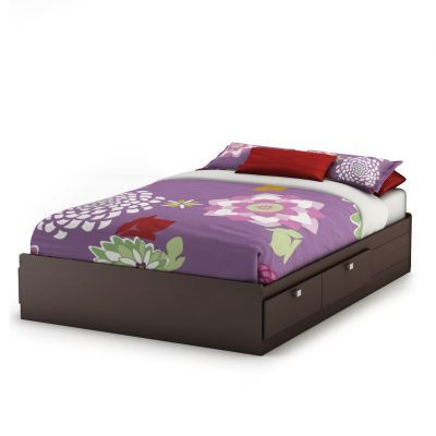 Spark Full Mates Bed (54'') with 4 Drawers Chocolate - 3259211
