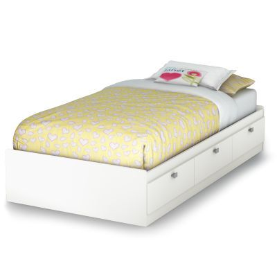 Spark Twin Mates Bed with 3 Drawers Pure White - 3260080