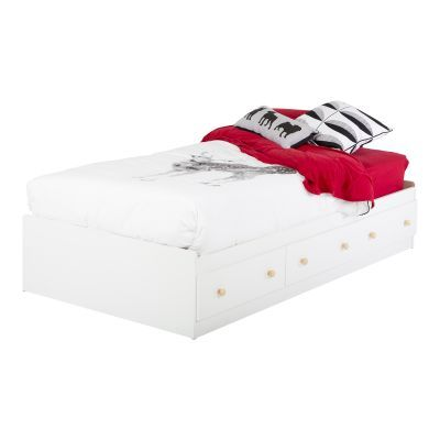 Summertime Twin Mates Bed with 3 Drawers Pure White - 3263080