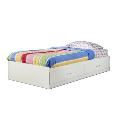 Logik Twin Mates Bed with 2 Drawers Pure White - 3360213