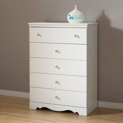 Crystal 5-Drawer Chest Pure White - 3550035