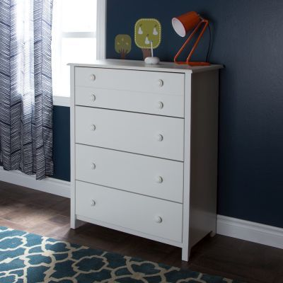 Little Smileys 4-Drawer Chest Pure White - 3740034