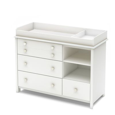 Little Smileys Changing Table with Removable Station White - 3740337