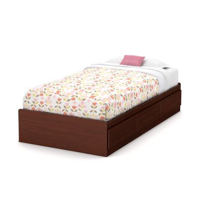Little Treasures Twin Mates Bed with 3 Drawers in Cherry - 3846A1
